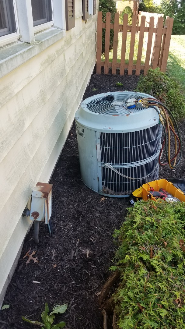 Alliance, OH - Repaired a air conditioning system near alliance ohio 44601