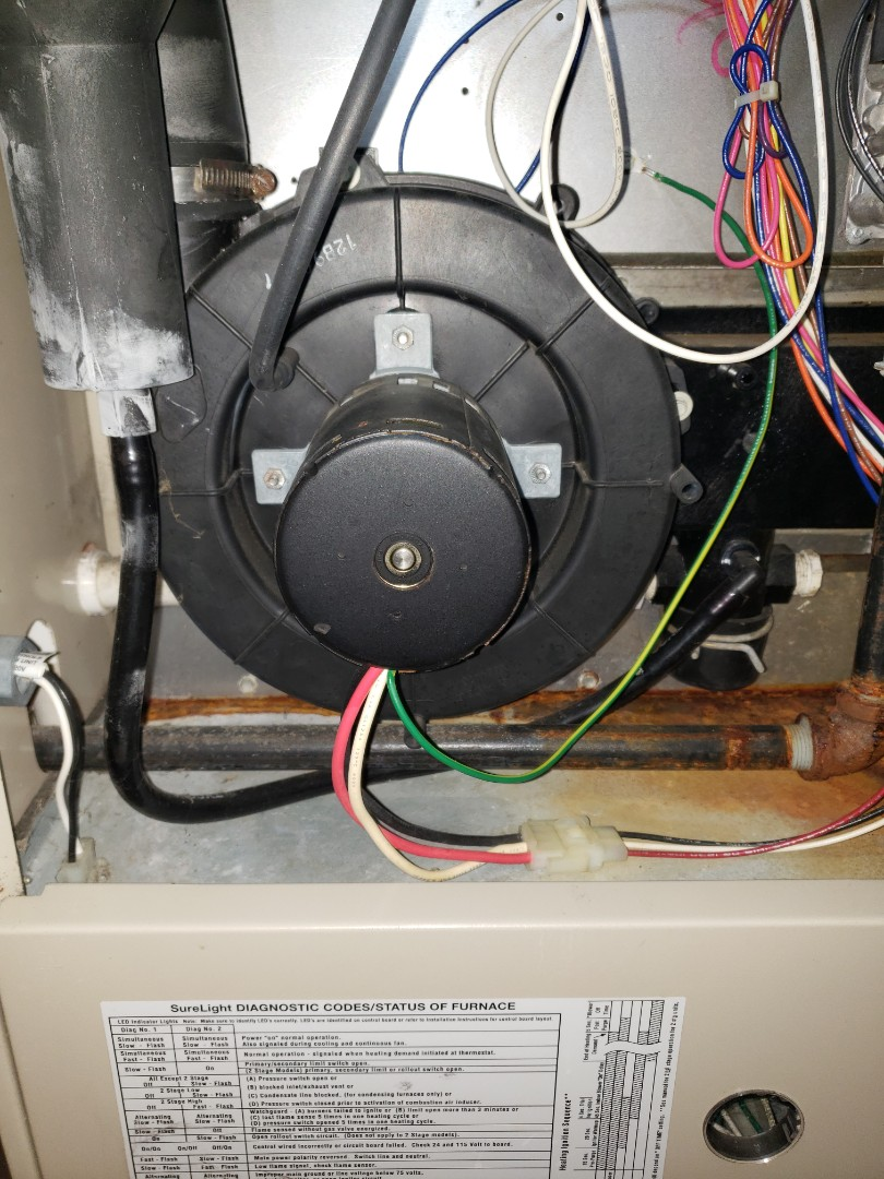 Furnace repair in chardonnay Ohio. Replaced Lennox inducer motor