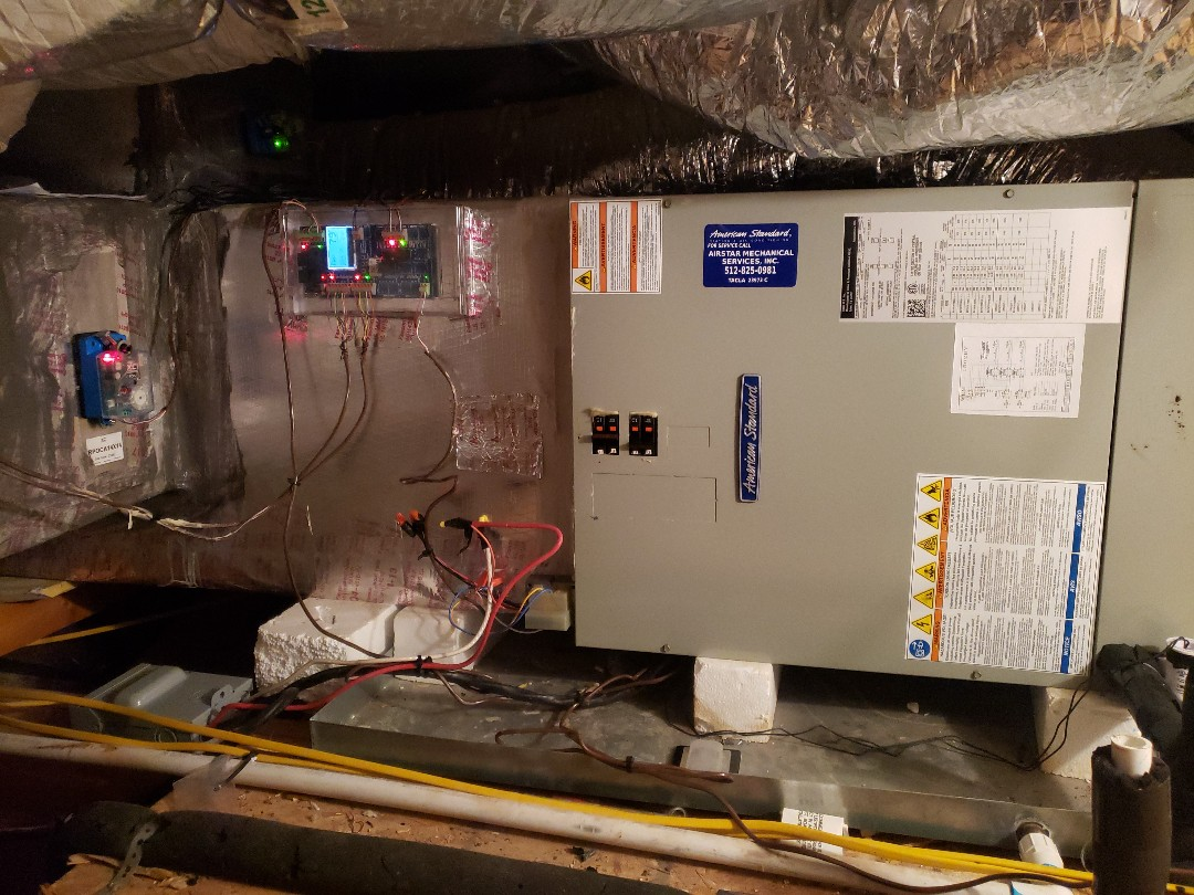 Manchaca, TX - Checking on a American standard heat pump system That has a zone system and a Wi-Fi thermostat