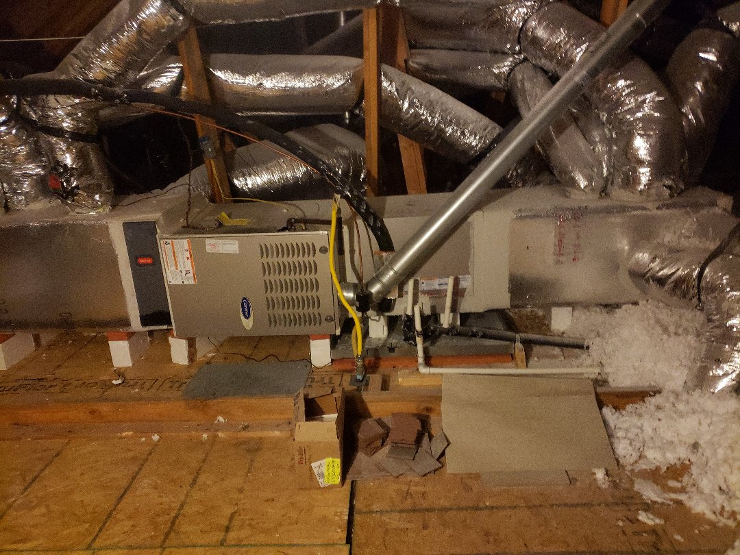 Dripping Springs, TX - Ac maintenance on a carrier furnace