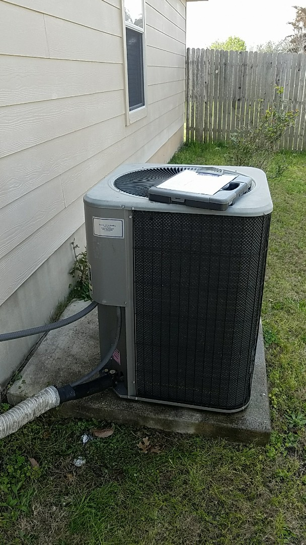 Buda, TX -  AC preventative maintenance on Lennox system with indoor air quality and refrigerate
