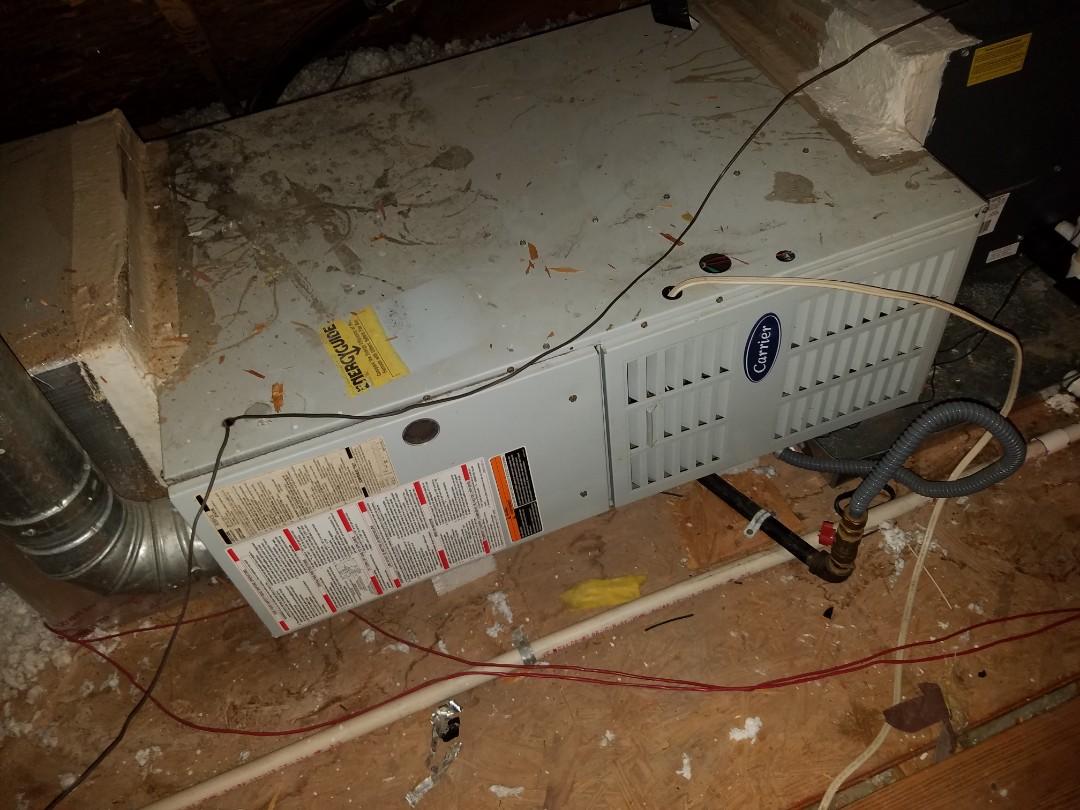 Austin, TX - Loud Carrier Furnace in attic making noises Fount bad inducer fan motor