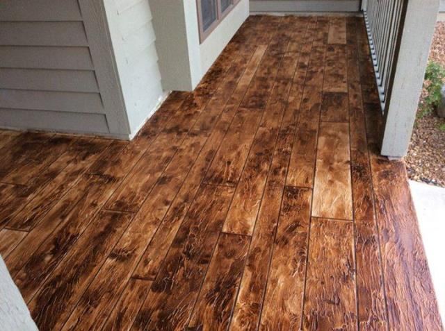Dayton, OH - No concern from moisture or weakness like other wimpy laminate-type wood floor surfaces provide, our cementitious coating is as tough as petrified wood and can permanently transform the look of any epoxy basement floor, epoxy garage floor, patio, porch, showroom or commercial location.