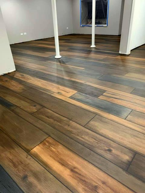 Centerville, OH - Epoxied floors are the perfect decorative concrete option for any space in your home.