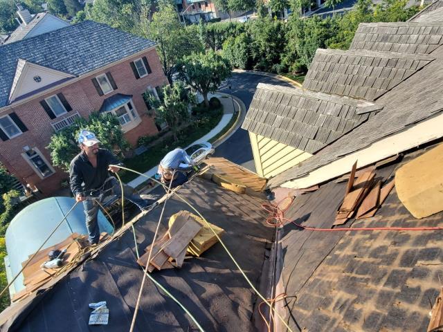 McLean, VA - installed cedar shake roof for a home in McLean, VA