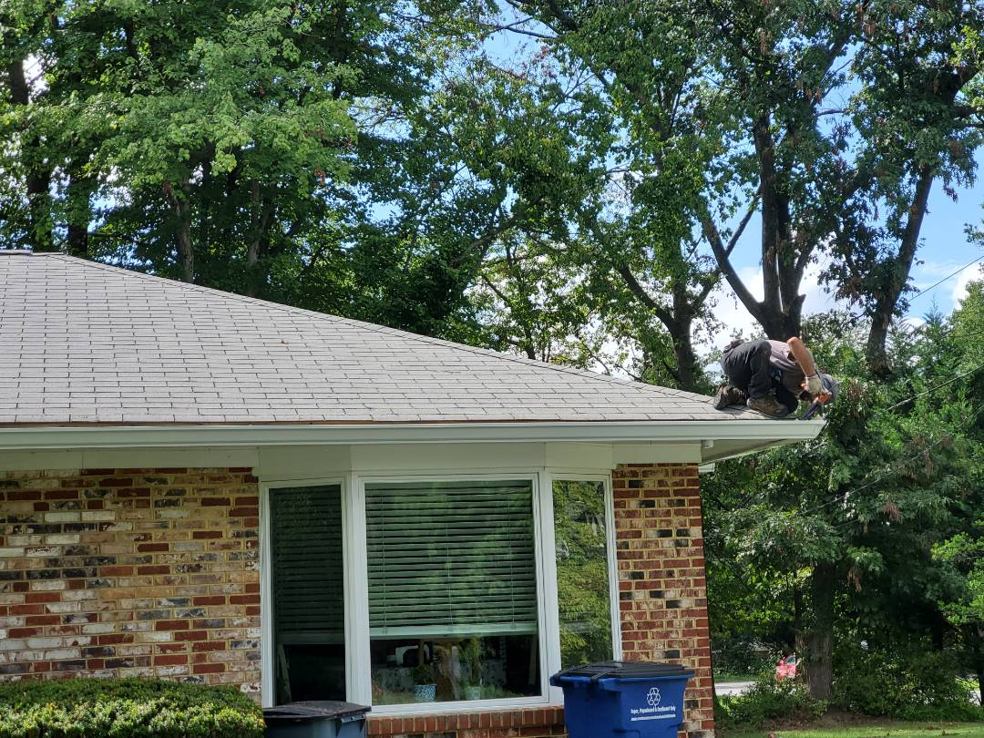 Rockville, MD - Installing new gutters and gutter guards and downspouts
