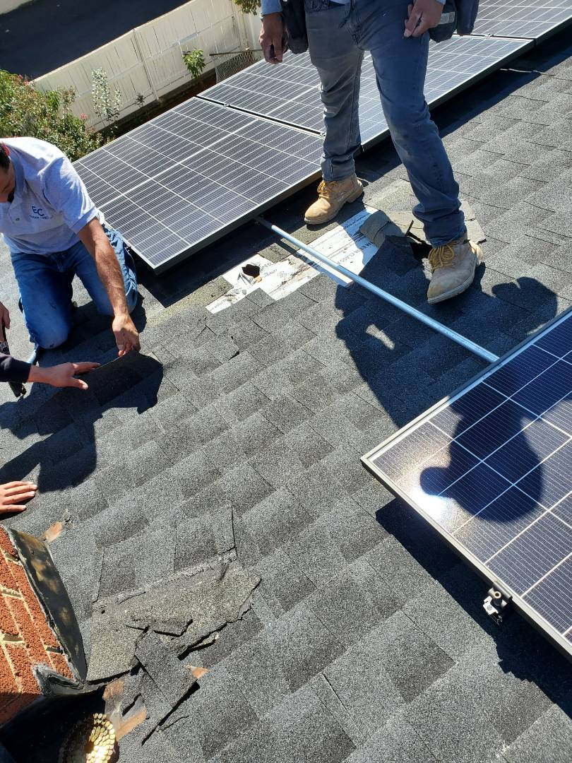 Alexandria, VA - AST Roofing was called to move roof vents of a house to thenside to make room for installation of solar panels.