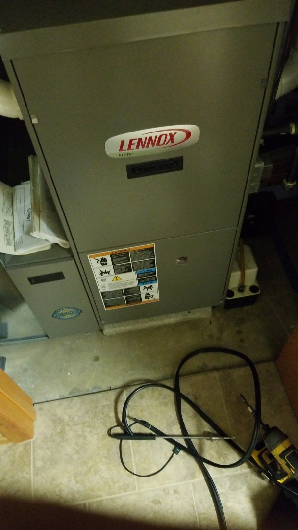 Woodward, IA - Servicing a 2009 Lennox furnace in rural Woodward.