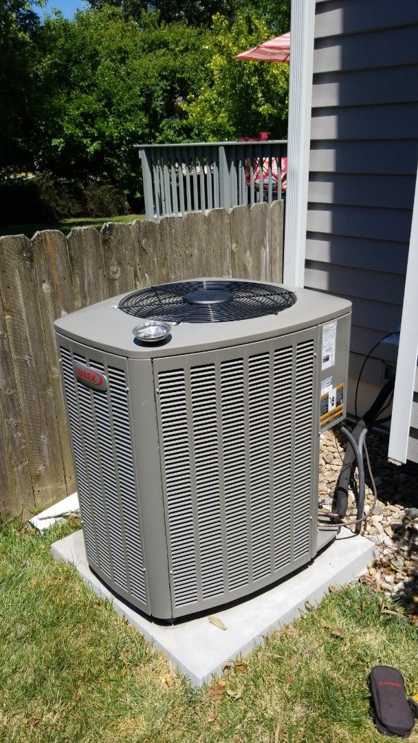 Ames, IA - Completed a TSP cooling tune-up on a 2016 Lennox A/C in residential Ames.