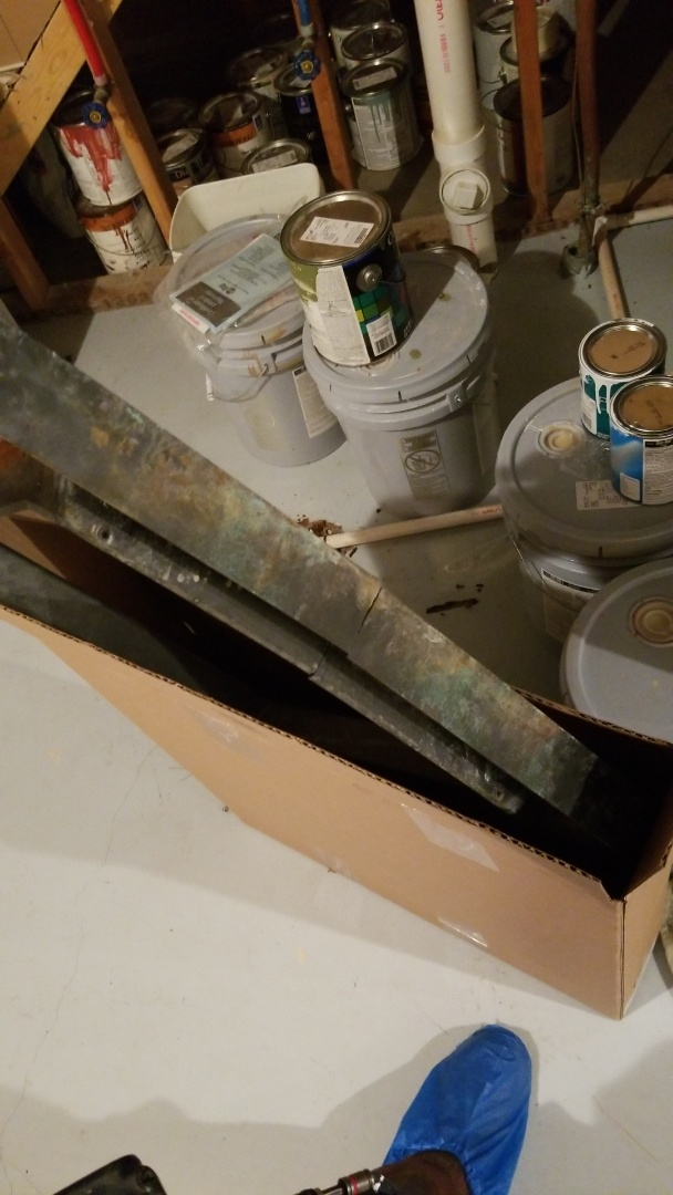 Ames, IA - Replacing a cracked drainpan on a 2009 Amana evaporator coil in residential Ames.