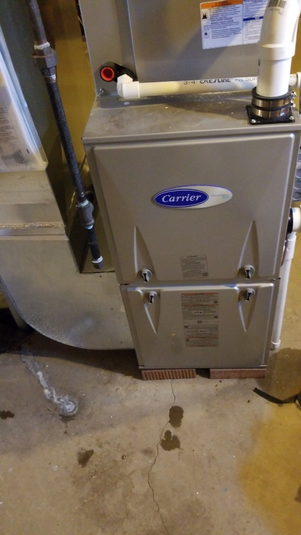 Huxley, IA - Servicing a 2019 Carrier furnace in residential Huxley.