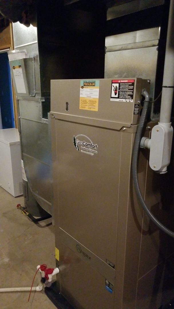 Huxley, IA - Servicing a 2020 Geocomfort ground source heat pump in residential Huxley.