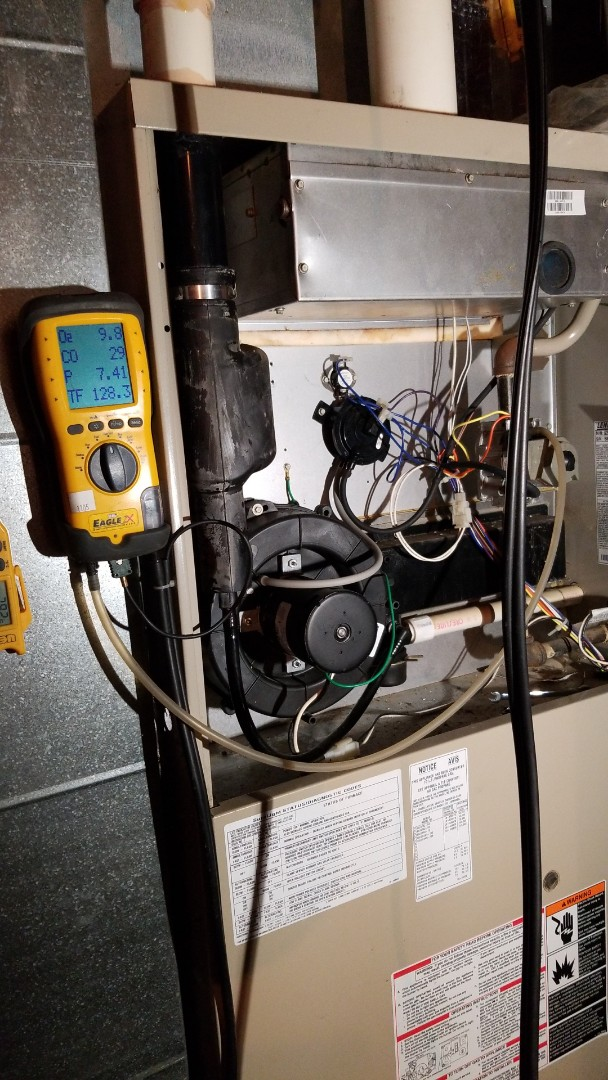 Dallas Center, IA - Servicing a Lennox furnace in Dallas Center IA