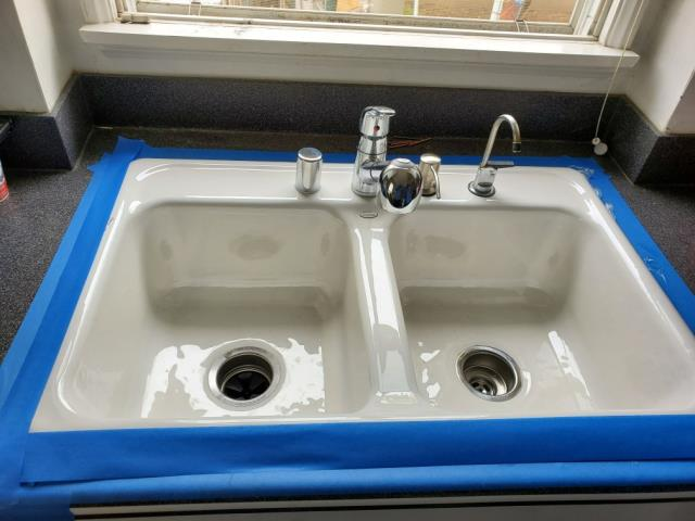 Remove old cast iron kitchen sink and replace with new kohler sink,faucet,air gap, and soap dispenser.
