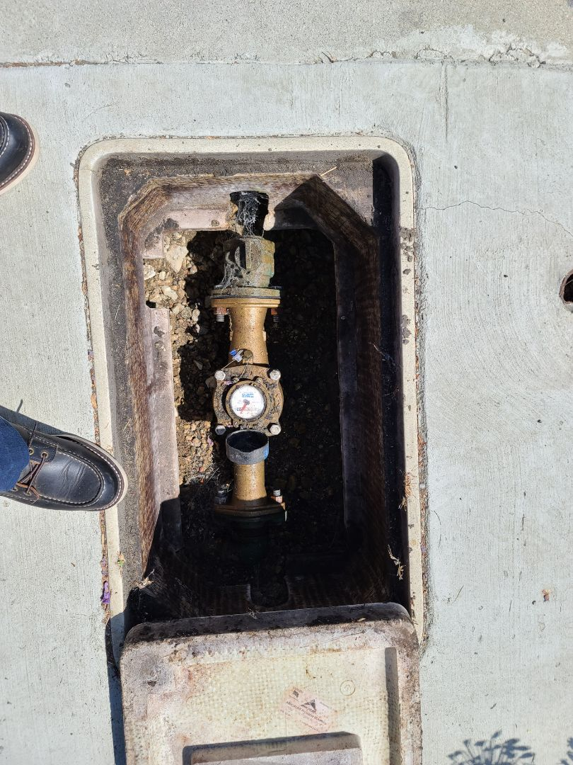 Cap off water lines to water heater