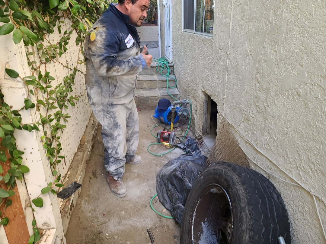 Inspect entire drain waste pipes.