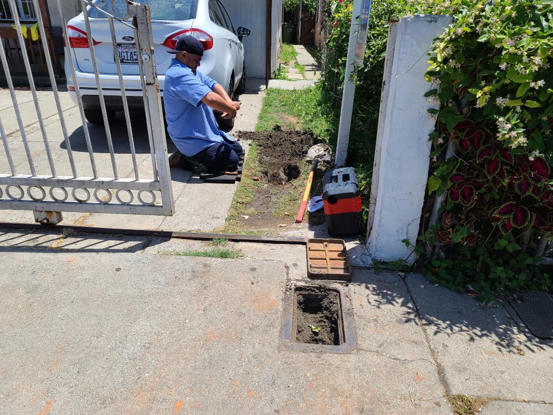 Repair copper water line