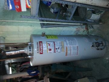 Whitehall, OH - repaired water heater and clean burner chamber and repair vent