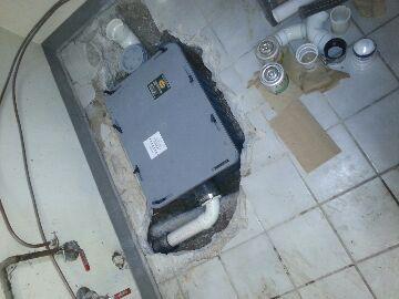 Dublin, OH - grease trap replacement drain plumbing sludge pipe leak