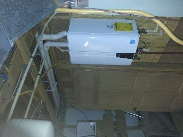 Lancaster, OH - tankless water heater install