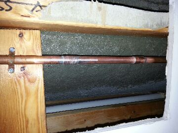 Westerville, OH - Repair frozen busted leaking water pipe behind shower wall