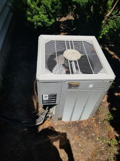 Powell, OH - Performed Pre-Season AC Tune-Up/Checkout on Trane AC to help keep Trane AC Unit performing at Peak Efficiency & Save Energy