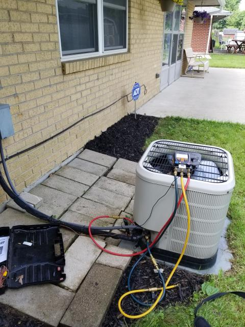 Reynoldsburg, OH - Performed Pre-Season AC Tune-Up/Checkout on Westinghouse AC to help keep Westinghouse AC Unit performing at Peak Efficiency & Save Energy
