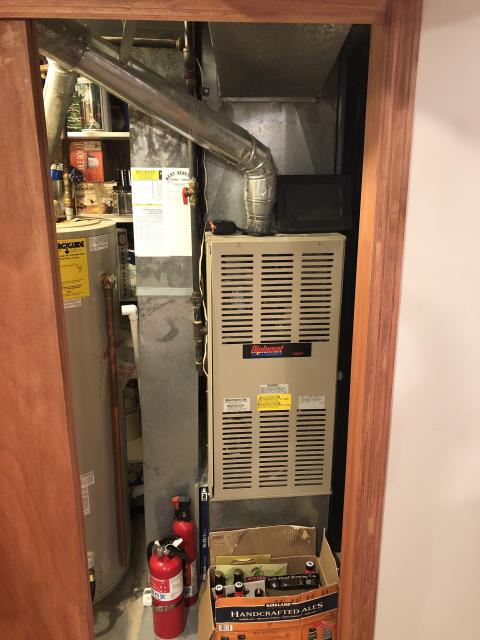 Dublin, OH - Replaced in warranty part on CARRIER furnace. Found old motor does not seem to have any operating issues(122v, 1.4a), nor does the technician hear noises at this moment(Issue is likely intermittent).-Replaced Motor, operating seems normal(122v, 1.3a), no noise at this time.Unit prepared to operate in heat when necessary.