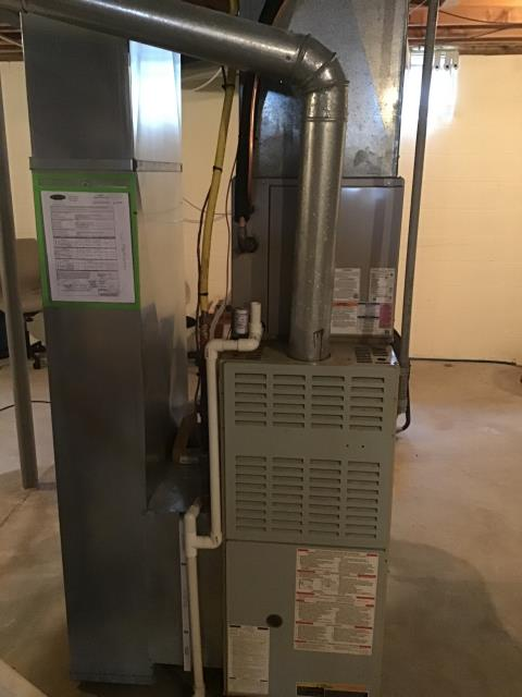 Hilliard, OH - Diagnostic service performed on the Bryant Gas Furnace unit. Confirmed that the system is working within manufacturer specifications.  Pictured is the customer's Bryant Gas Furnace Unit.