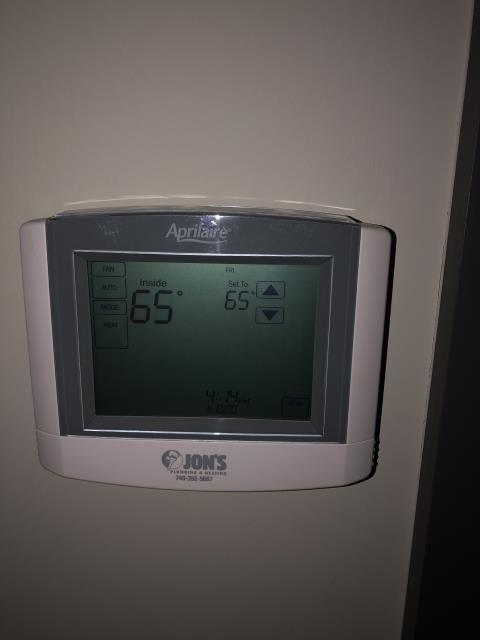 Dublin, OH - One of our talented technicians installed an EcoBee thermostat to ensure proper temperature in the customer's home.  Pictured is the customer's thermostat