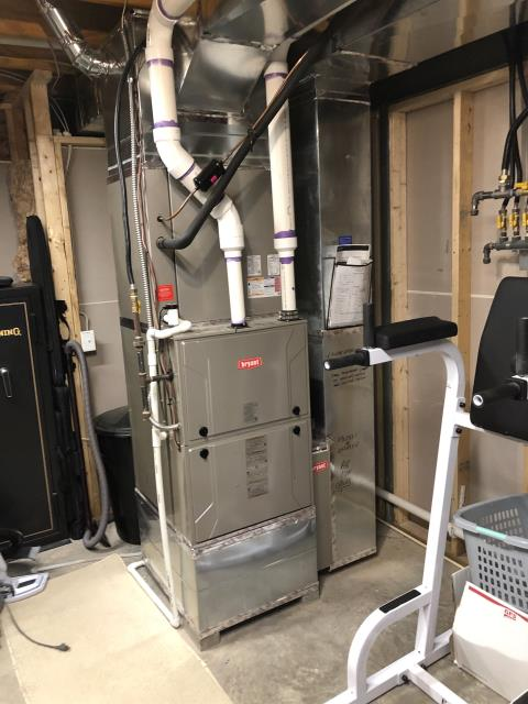 Powell, OH - Pulled and Cleaned Blower Assembly on a 2020 Bryant gas furnace.