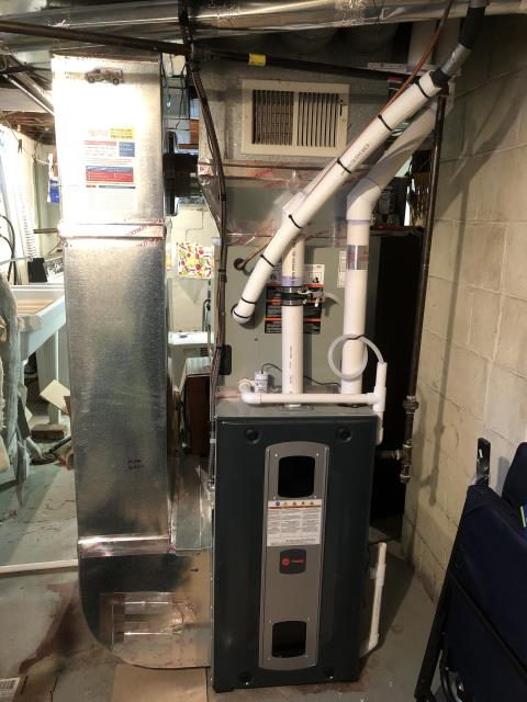 Columbus, OH -  Tune-Up/Safety check: Performed combustion analysis and Tune-Up on Trane gas furnace.