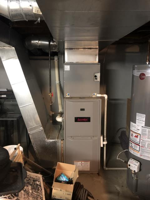 Sunbury, OH - I provided the customer with a free estimate for a new Carrier 16 SEER 2.5 Ton Air Conditioner and a Carrier 96% Two-Stage 40,000 BTU Gas Furnace.
