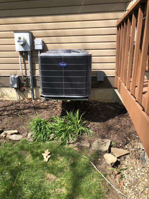 Gahanna, OH - I installed a new Carrier 80% 45,000 BTU Gas Furnace & Carrier 16 SEER 2 Ton Air Conditioner