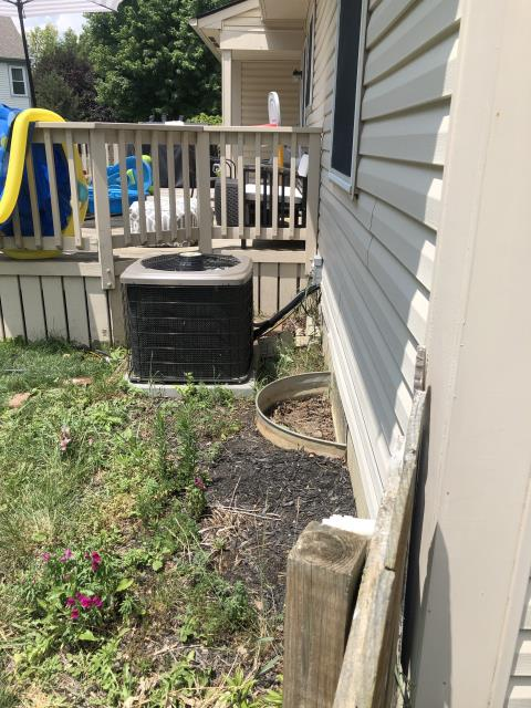 Dublin, OH - System low on refrigerant and has a leak of the refrigerant  410A. Options: Replace unit or Refill/no warranty will leak out. Fix leak $3000/$3500