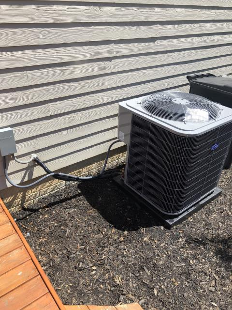 Granville, OH - customer explained that after he made the phone call for the appointment he checked the filter. Was quiet a bit passed needing changed. Let it melt all night and tried again no ice on system. Going to check temp drop on system and if it is correct going to move through a full time up on system. Brand new hyper allergenic filter these filters are thicker than other so even a couple months of dust can restrict airflow to the point of ice. Temp drop 70.2 in 49.9 out. Temp drop is very good. Going to do full tune up on system.
