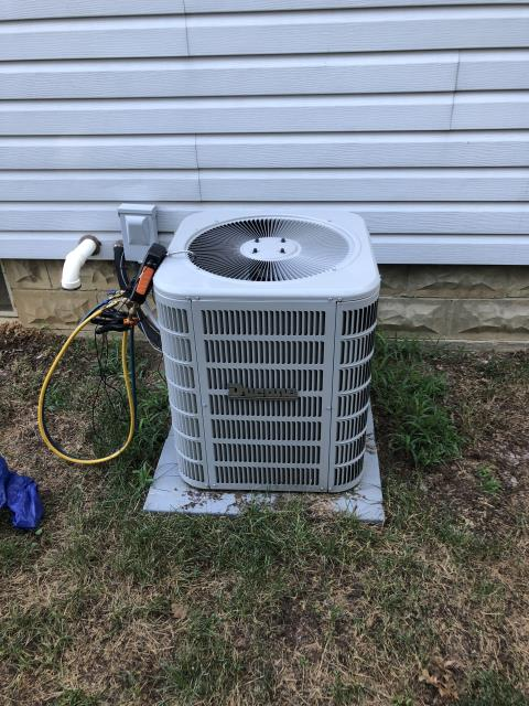 Lewis Center, OH - Ducane AC was tripping breaker. Could find nothing wrong with AC. Customer is contacting electrician.