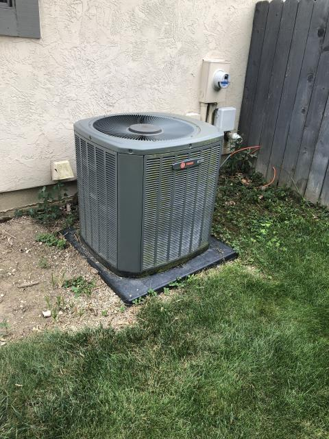 Columbus, OH - Tuneup and safety check on Trane AC. No issues found at this time, system is cooling properly.