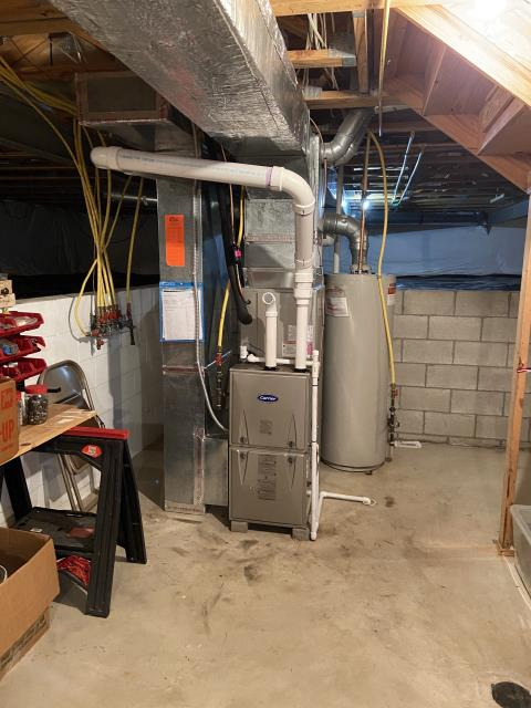 Lewis Center, OH - I installed a new Carrier 96% 60,000 BTU Gas Furnace, Carrier 13 SEER 2.5 Ton Air Conditioner,