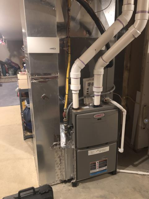 Hilliard, OH - I completed a fall tune up on a Lennox gas furnace.  I visually inspected the unit.  Client to replace filter.  Checked voltages, amps and pressures.  Completed combustion analysis.  Cycled and monitored system.  Operating normally at this time.
