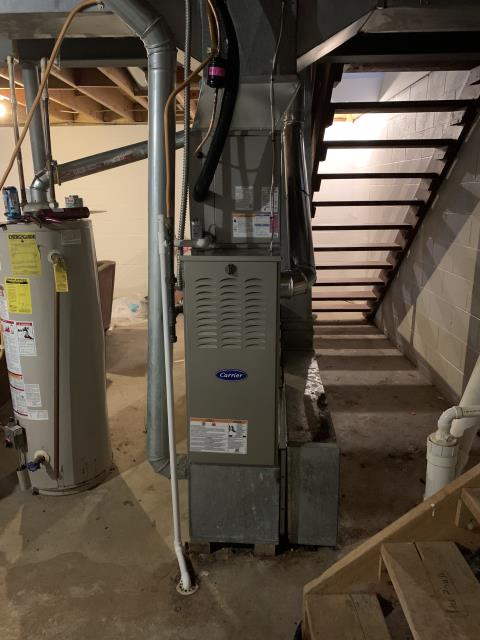 Whitehall, OH - I installed a Carrier 80% 45,000 BTU Gas Furnace ** Carrier 13 SEER 2.5 Ton Air Conditioner