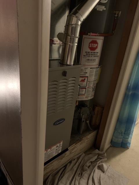Delaware, OH - I installed Carrier 80% 45,000 BTU Gas Furnace