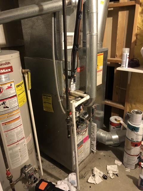 "New Albany, OH - I installed a Five Star 80% 45,000 BTU Gas Furnace 3T 14"" and a Five Star 13 SEER 2 Ton Air Conditioner"