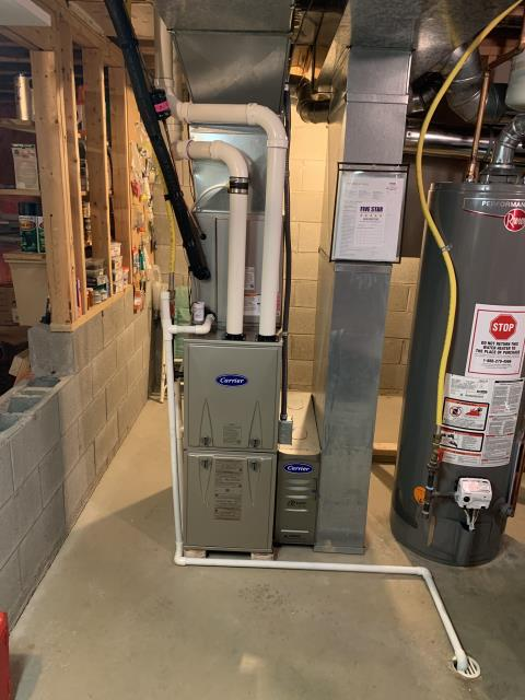 Groveport, OH - I installed a Carrier 40k btu furnace and a Carrier 13 SEER 2 Ton Air Conditioner
