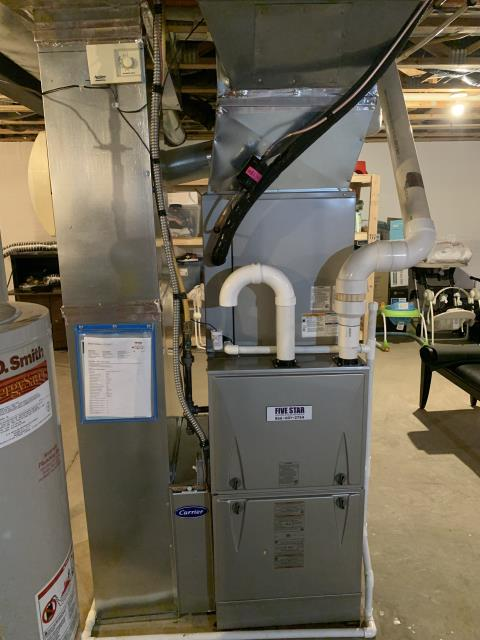 """Powell, OH - I installed a Five Star 96% 2 Stage Variable Speed 100,000 BTU Gas Furnace 5T 21"""" and a Five Star 17 SEER 4 Ton Air Conditioner."""