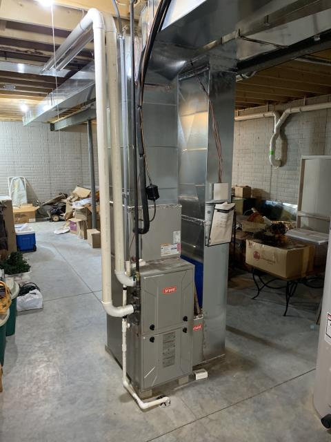Canal Winchester, OH - I performed a tune up on a Bryant propane furnace. Everything checked out as functional and I quoted customer a Honeywell T10 for customer to consider.