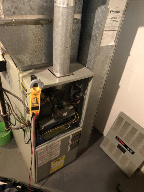 Hilliard, OH - I found the issue to be with the flame sensor. I pulled it, cleaned it, and reinstalled part. Furnace functioning properly upon departure.