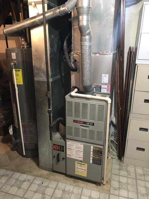 Canal Winchester, OH - I installed a Carrier 80% 45,000 BTU Gas Furnace to replace a Trane gas furnace