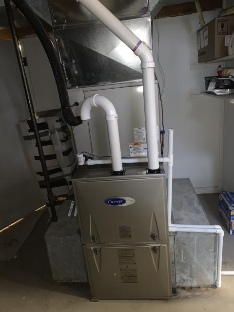 Pickerington, OH - I installed a Carrier 96% Two-Stage 80,000 BTU Gas Furnace and a Carrier up to 17 SEER 2 STAGE 3 Ton Air Conditioner