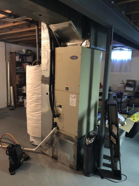 """Westerville, OH - I installed a Five Star Multi-Speed 2 Ton Electric Furnace / """"Slant"""" Coil and a Carrier 14 SEER 2 Ton Heat Pump"""